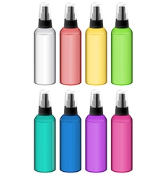 Collection of spray bottles vector
