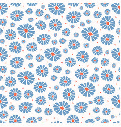 Daisies field flower all over print vector