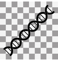 DNA symbol Flat vector image vector image