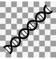 DNA symbol Flat vector image
