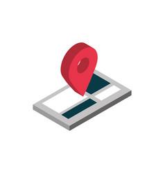 ecommerce business internet mobile gps navigation vector image