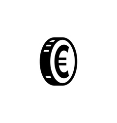 Euro coin simple icon vector image
