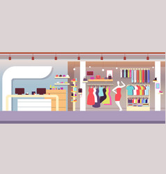 fashion shop boutique fashion store with female vector image