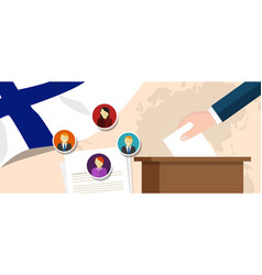 Finland democracy political process selecting vector