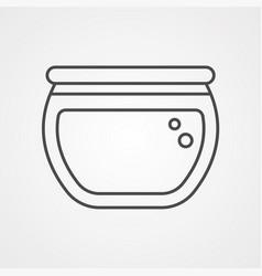 fish bowl icon sign symbol vector image