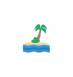 flat icon island element of vector image