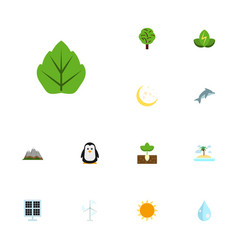 Flat icons sunshine emperor wood and other vector