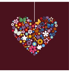 Flower heart vector