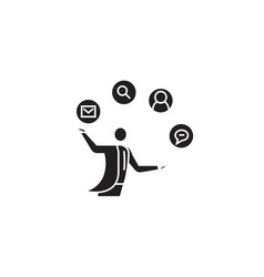 founder black concept icon founder flat vector image