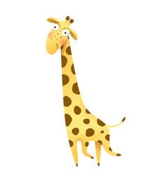Giraffe for kids cute and funny animal cartoon vector