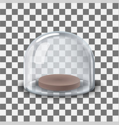 Glass dome transparent vector