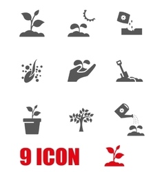 grey growing icon set vector image