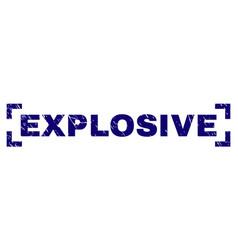 Grunge textured explosive stamp seal between vector