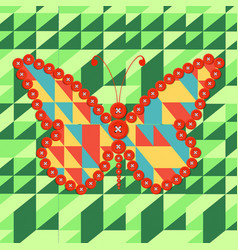Hand drawn entangle butterfly decorative vector