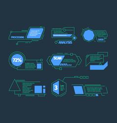 hud callouts future technology frames tech bars vector image