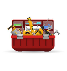 instrument toolbox with tools kit vector image