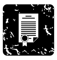 Insurance document icon grunge style vector