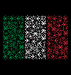 italy flag pattern of atom icons vector image