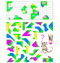 Logic puzzle game need to find correct place vector