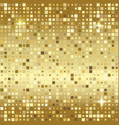 luxury gold mosaic background or golden square vector image