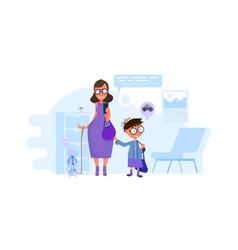 mommother writes children to school principal vector image