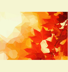 October leaves vector