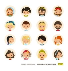 People avatars collection Set of Hipster avatar vector image