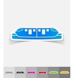 Realistic design element monorail train vector