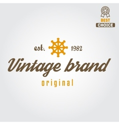Retro vintage insignia logo for different shops vector