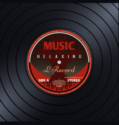 retro vinyl record label music poster vector image