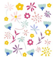 Seamless floral pattern wallpaper vector