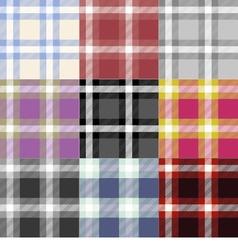 Set of 9 seamless tartan backgrounds vector