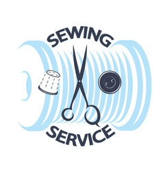 sewing service vector image