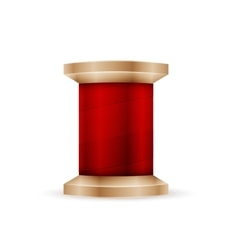 Spool red thread vector
