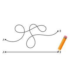 Straight and complicated path from point a to vector