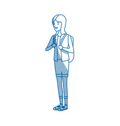 student girl teenager standing character person vector image