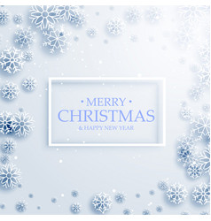 Stylish merry christmas greeting card design with vector