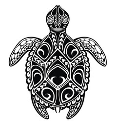 tattoo turtle vector image