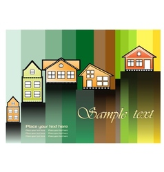 The houses vector image vector image