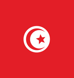Tunisia flag for independence day and infographic vector