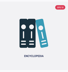 two color encyclopedia icon from logo concept vector image