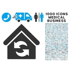 Update Building Icon with 1000 Medical Business vector