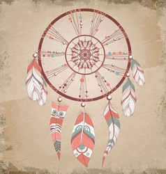 Vintage dream catcher vector