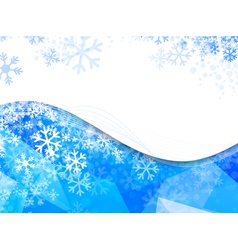 Wavy Frame With Snowflakes vector image