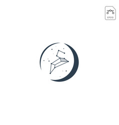Zodiak logo or symbol design element isolated vector