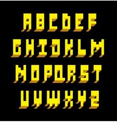 3d font type alphabet vector image vector image