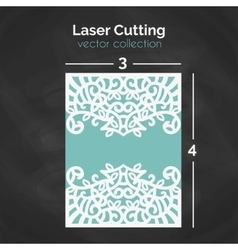 Laser Cutting Template Carverd Greeting Card vector image vector image