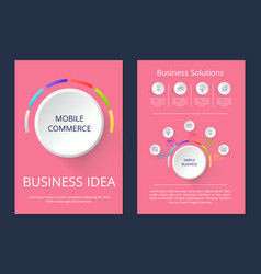 mobile commerce business idea vector image