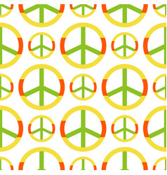 peace symbol made of hippie theme pacifism vector image