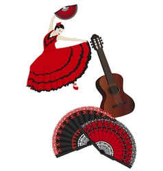 spanish montage vector image